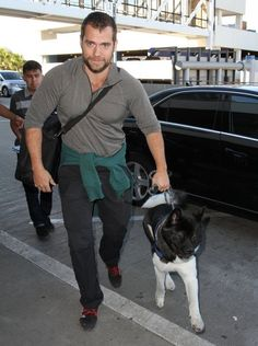 Henry Cavill Photos: Henry Cavill Catches A Flight With His Dog