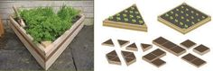 This new, quick and easy DIY multiple layout system, allows you to make raised growing beds suitable for small gardens or large vegetable plots. Made from FSC Certified cedar, which is resistant to rot and insect damage and has had no noxious chemical wood treatments, it also has an integral 'Coppa-stoppa' slug defence, which stops the slugs from climbing into the plants. Two shapes available and can be stacked to make deeper beds   The dimensions of the bed is 1 meter by 1 meter by 1 meter