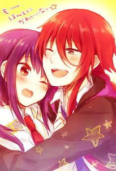 anime   couple   cute   kamigami no asobi   otome game