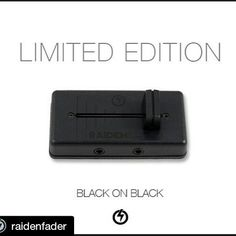 #Repost @raidenfader with @repostapp  Available now at www.raidenfader.com... We created this Black/Black version to commemorate our first fader release. Exactly 1 year ago this month we officially launched our fader for sale. A lot changed in 1 year and the portable turntablism scene is now thriving and getting more supporters each day.  Besides looking good this all black fader serves as a reminder of how a simple device can start a movement... The idea of being able to scratch and…