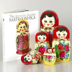 Russian Matryoshka Book & Doll Set