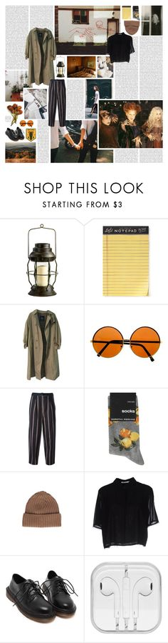 """in loneliness my only fear"" by silentrose ❤ liked on Polyvore featuring Cyan Design, Rifle Paper Co, Burberry, Elizabeth and James, Dorothy Perkins, malo, T By Alexander Wang, modern and messyhairedream"