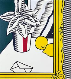 'Painting (Still Life With Envelope)', Oil by Roy Lichtenstein (1923-1997, United States)