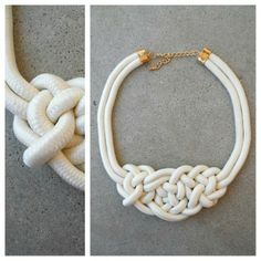 White Rope Necklace #statementnecklace #nautical