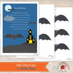 5 Little Bats Free Printable