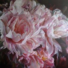by marcella kaspar Acrylic Flowers, Watercolor Flowers, Watercolour, Beautiful Flower Arrangements, Beautiful Flowers, Beautiful Bouquets, Chinoiserie Wallpaper, Art Base, Art For Art Sake