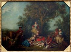 L'automne, de Nicolas LANCRET, Paris, 1738 Département des Peintures  © Musée du Louvre/A. Dequier - M. Bard