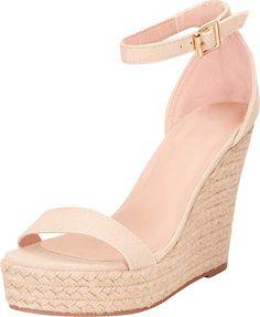 3773bf00f0 Amazon.com | Cambridge Select Women's Open Toe Single Band Ankle Strap Espadrille  Chunky Platform