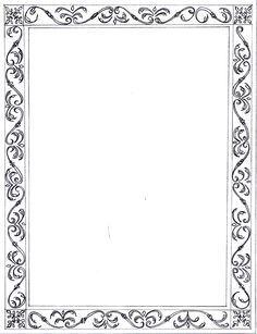 Printable black and white flower border use the border in microsoft r 12 m mightylinksfo