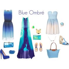 """Blue Ombré"" by jbos93 on Polyvore"