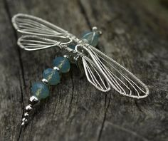 Dragonfly wire wrap #jewelry by ladysharlyne