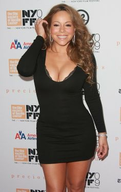 "Pretty Celebrities Photos: Mariah Carey at The ""Precious"" screening at the 2009 New York Film Festival"