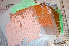 Minecraft Cake with video and tile tutorial