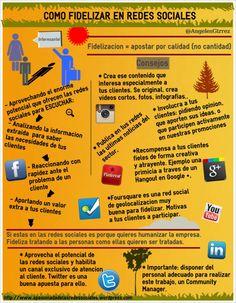 Cómo fidelizar en Redes Sociales #infografia