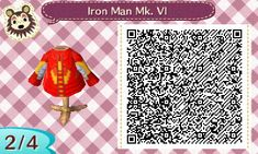 The Animal Crossing New Leaf QR Code Thread - Animal Crossing: New Leaf - Giant Bomb Iron Man Poster, Motif Acnl, Animal Crossing Qr Codes Clothes, Super Hero Costumes, New Leaf, My Animal, Projects To Try, Geek Stuff, Animals
