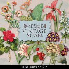 New Freebie Vintage Flowers- beautiful images from Far Far Hill