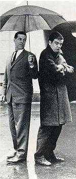 Pentti Ilmari Saarikoski (2. syyskuuta 1937 Impilahti – 24. elokuuta 1983 Joensuu)[1] oli runoilija, suomentaja ja sotien jälkeisen Suomen merkittävimpiä kirjailijoita. Saarikoski julkaisi runokokoelmia vuodesta 1958 lähtien tasaisesti kuolemaansa saakka. 1960-luvulla hänen kirjoitustyylinsä alkoi muuttua erottautuen yhä enemmän muusta suomalaisesta modernismista. Saarikoski itse kuvaili tyyliään demokraattiseksi tai dialektiseksi. Reino Helismaa ja Pentti Saarikoski vuonna 1962 Dear Diary, Portraits, Maine, Singer, Inspiring People, Writers, Inspiration, Authors, Artists