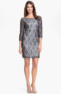 Pisarro Nights Embellished Lace Sheath Dress available at #Nordstrom