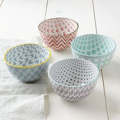 Modernist Bowls - Pastel #westelm cut set i got will be a cute addition for my kitchen