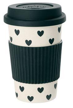 Miss Etoile | Travel Mug | Bamboo Melamine | Black Hearts