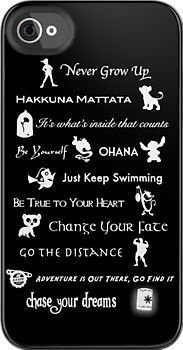 Disney phone case with all the important   lessons we should have learned from watching (: