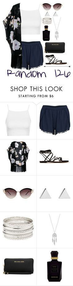 """Random 126"" by megan-walz21 ❤ liked on Polyvore featuring Topshop, VILA, Gianvito Rossi, Jennifer Meyer Jewelry, Charlotte Russe, Lucky Brand, Michael Kors and Keiko Mecheri"