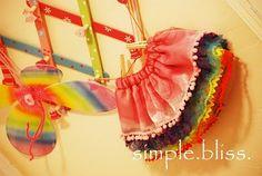 Layered rainbow skirt