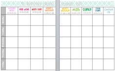 Elementary Organization  two updated lesson plan templates VTtOO1wL