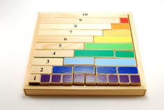 Montessori mathematical wooden game  content of numbers par Dominna, $39,00