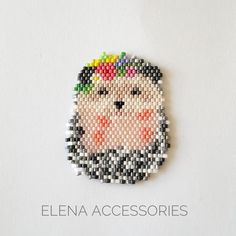 Hedgehog brooch necklece PDF pattern for miyuki delika & toho tresures seed beads qute animal [post_tags