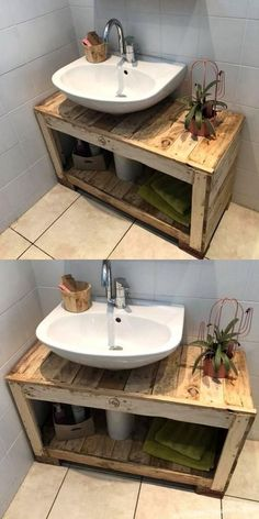 Tables Pallet Inexpensive Diy Pallet Vanity Projects