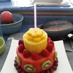 Look At My B Day Cake Made Of Fruit I This Year