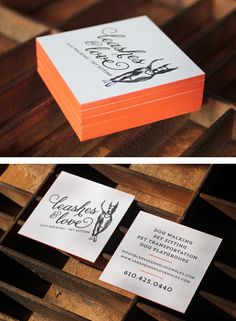 Leashes & Love business card design with painted edges   Curious & Co. Creative