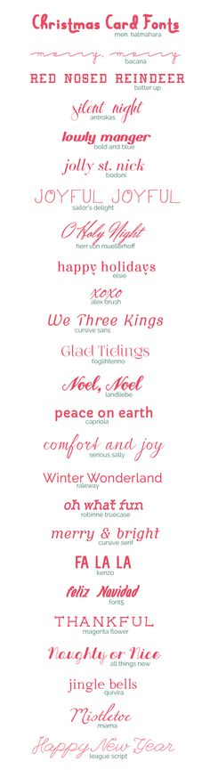 Freebie| 25 Christmas Card Fonts – Scrap Booking