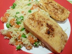 Sweet Moroccan-Glazed Tofu with couscous from Big Vegan