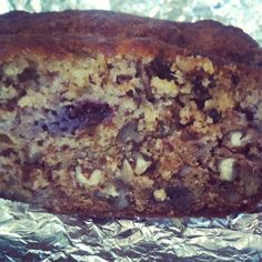 Banana blueberry bread #healthy #wholewheat #yogurt #fruit #breakfast