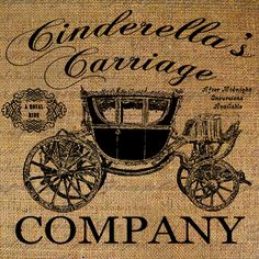 Cinderella Carriage Company Fairy Tale Fantasy Antique Carriage Digital Image Download Transfer To Pillows Tote Tea Towels Burlap No. 2704