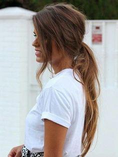 Peinados 2014 look cola de caballo