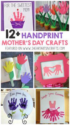 12+ Adorable Handprint Mother's Day Crafts For Kids - I Heart Arts n Crafts