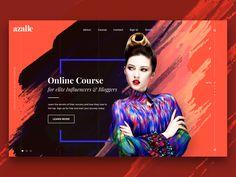 Azalle website concept  by k3nnyart #Design Popular #Dribbble #shots