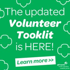 Attention all Girl Scout Troop Leaders and Parents! Have you heard the great news? The online Volunteer Toolkit has is updated with some awesome new tools and features that will help you continue the fun this year! From new troop and parent communication tools to a new financial tab that tracks finances and dues, we know you'll love the Volunteer Toolkit even more. And now ALL Troop Leaders will have access to this awesome tool! Discover and research all the Volunteer Toolkit has to offer!