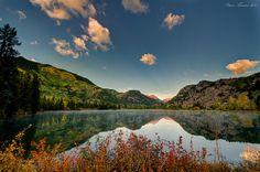 Sunrise from wonderful Castle Lakes Campground. Lake City, Colorado
