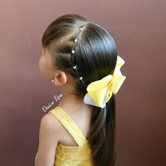 Hairstyle with suspenders and low ponytail for girls. Cute Toddler Hairstyles, Girls School Hairstyles, Baby Girl Hairstyles, Natural Hairstyles For Kids, Work Hairstyles, Dreadlock Hairstyles, Ponytail Hairstyles, White Girl Braids, Girl Hair Dos