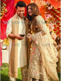 Lovely Click of Atif Aslam and his wife Sara Bharwana at a recent Event - Style.
