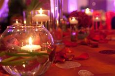 Romantic tablescape from event planner Alpa Patel, owner of Weddings by Alpa, Dallas, Texas....
