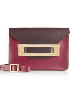 Sophie Hulme Sac porté épaule en cuir color-block Envelope Mini | NET-A-PORTER