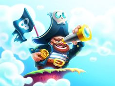 Pirate designed by Artua. the global community for designers and creative professionals. Pirate Illustration, Children's Book Illustration, Illustrations, Pirate Art, Pirate Theme, Cute Characters, Cartoon Characters, Pirate Cartoon, Dragon Rpg