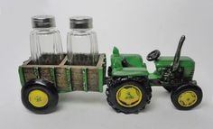 Trailer Spice Polyresin Tractor Figurine with Detachable Trailer salt and pepper shaker. DWK Corporation World of Wonders. Handpainted and crafted by professional artists. Limited edition of 5000 pieces KIT- SPTT . Available for Purchase Farm Kitchen Decor, Kitchen Decor Items, Rustic Kitchen, Kolkata, New Tractor, Salt And Pepper Set, Island, Salt Pepper Shakers, Interior Design Kitchen