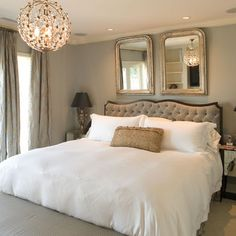 White Romantic Bedroom Design, Pictures, Remodel, Decor and Ideas - page 3