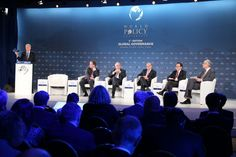 """Plenary session 1: """"Global economic governance"""", with Jim Hoagland, Contributing Editor to The Washington Post; Benoît Coeuré, Member of the ECB's Executive Board; Kemal Dervis, Vice President, Brookings Institution and Member of the Executive Committee, Istanbul Policy Center, Sabanci University; Angel Gurría, Secretary-General of the OECD; Il Sakong, Chairman of the Institute for Global Economics, Former Finance Minister of Korea; John Lipsky, former First Deputy Managing Director, IMF"""